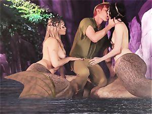 torrid mermaid 3some with Aiden Ashley and Mia Malkova