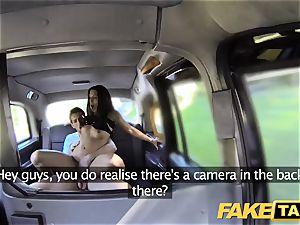 faux cab tall Spanish cutie drills her boyfriend in the back