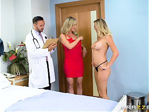 Brandi enjoy and Brett Rossi get down to biz with the doc