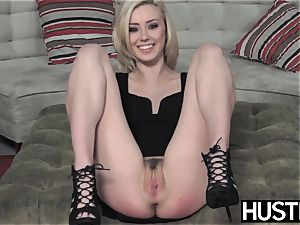 Irresistible Haley Reed blowbanged before sloppy facial cumshot