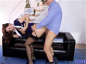 brit stockings cougar creampied in ffm