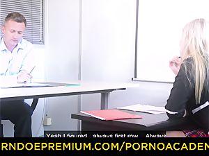 porn ACADEMIE - buxom Georgie Lyall pokes principal