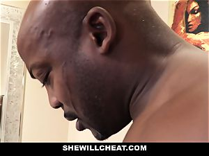 SheWillCheat - cuckold wife nails bbc in douche