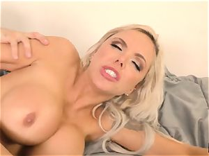 hot towheaded Nina Elle tucked stiff by Tommy Pistol