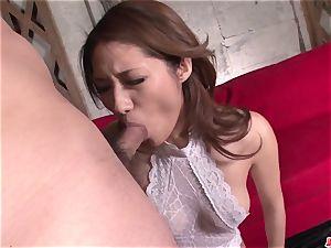 Mind sucking chinese group hard-core with Riina Fujimoto