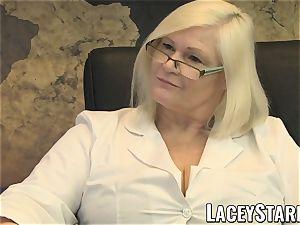 LACEYSTARR - GILF eats Pascal milky jism after fuck-fest