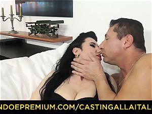 audition ALLA ITALIANA brunette nympho rough ass fucking fuck-fest