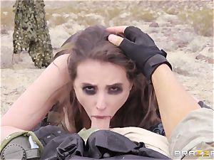 metal Gear Solid 5 anal porn parody with wild dark haired Casey Calvert
