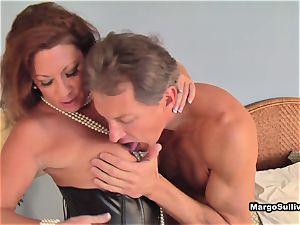Margo catching her man masturbating