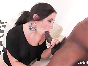 chesty honey Jayden takes a fat dark-hued prick from Mr Marcus