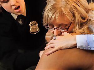 SEXYMOMMA-Ebony jail guard belt cock plowed in the donk