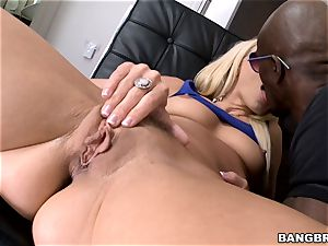 Anikka Albrite pounded by a dark-hued manmeat