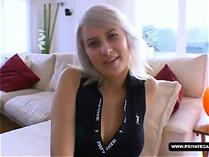 Lora Row Gives point of view blow-job in the audition
