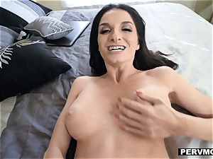 PervMom - big-chested mummy riding Her sons huge cock