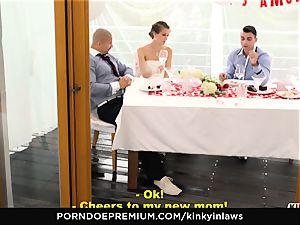 mischievous INLAWS - euro bride torn up deep by stepson