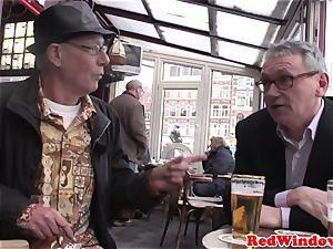 Pussyeaten amsterdam prostitute enjoys tourist