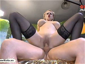Angel Wicky giant natural hooters cum glazed - German Goo