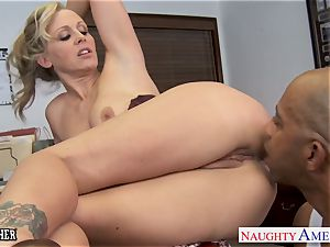 blonde teacher Julia Ann banging a big black cock