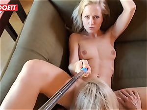 amateur nubile gets pro consolation from couple