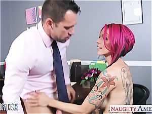 Anna Bell Peaks raw at the office for a great tear up