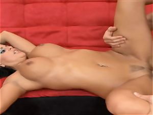 sugary babe Mikayla gets her hooters drizzled with jizm