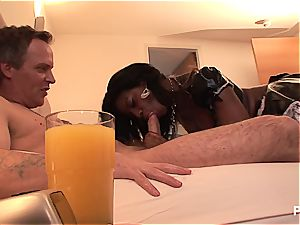 boning his maid for breakfast
