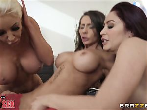 Monique Alexander and her gals plow together