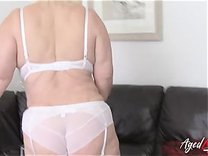 AgedLovE buxom Lacey Starr gonzo and fellatio