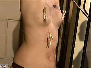Kathia Nobili spank a stunning babe in the booty
