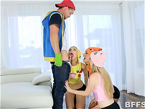 super-fucking-hot 3 of dolls have joy and games with a solo stiffy
