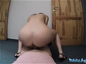 Public Agent fantastic Sporty college girl penetrated in Public field