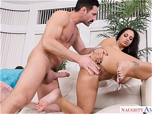 Ava Addams poked on the couch