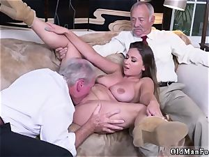 older lady enormous tits Ivy amazes with her phat boobies and rump
