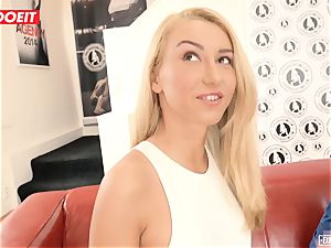 Katrin Tequila humped xxx on her first-ever casting