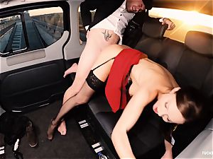 nailed IN TRAFFIC - british Tina Kay boned in the car