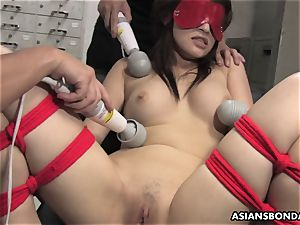 asian spear dicksucker suffers a gang playing