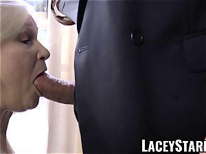 LACEYSTARR - kinkiest grannie analled before cum-shot