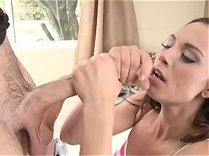Aidra Fox spooned by a lengthy rock-hard meatpipe