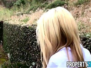PropertySex towheaded realtor tricked into intercourse on camera