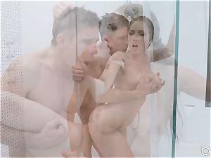 Lena Paul shower ravage with hunky German Mick Blue