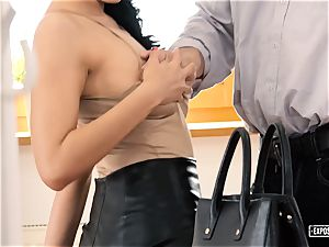exposed audition - chesty Russian honey screwed in casting