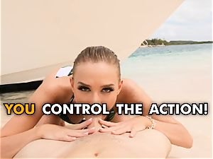 boinking your sizzling girlfriend Emma Hix on the beach pov