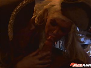 Pirate inserts his firm meat sword into Devon and Teagan Presley