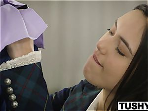 TUSHY assfuck Lessons for mind-blowing bore Maya Grand