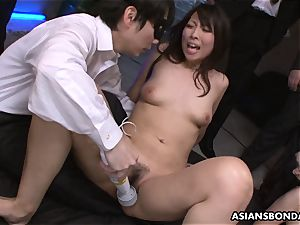 splooging like horny and she inhales some knobs