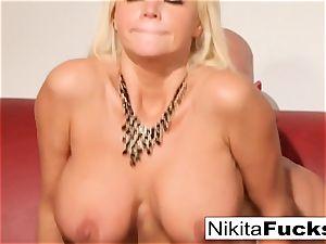 Russian cougar Nikita takes a enormous trouser snake