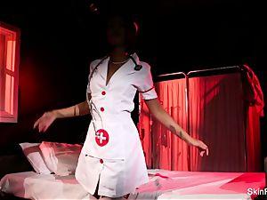 Creepy-Sexy nurse skin Diamond dances and taunts