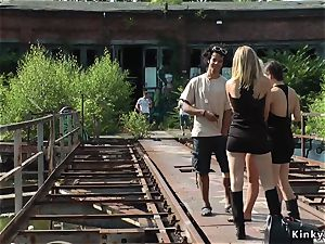blond assfuck fisted and flogged outdoor