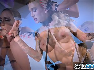Monster with monster spear boning deep Sarah Jessie and Jessica Jaymes