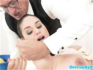 Rich students romp with masculine teacher in class